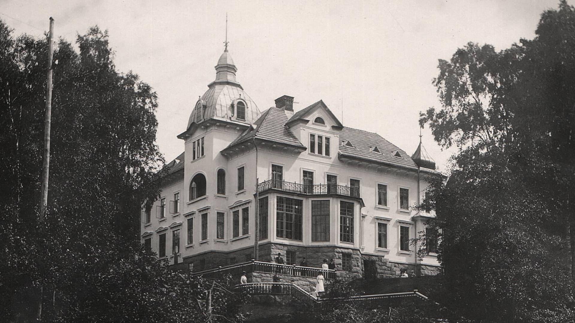 historisk bild Villa Strömsfors