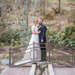 Bröllopsbild med bröllopspar Villa Strömsfors